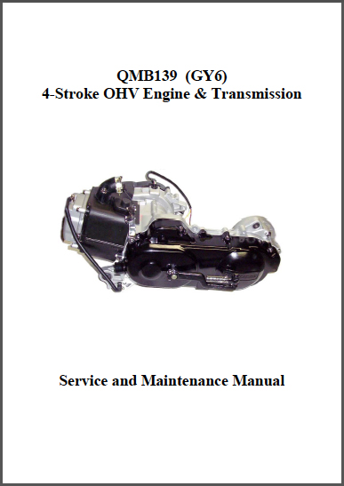 Servicemanual till GY6-motorn, världens vanligaste 4-takts mopedmotor. Sitter i alla Baotian Scooters